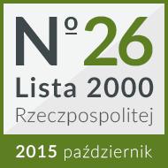 27 miejsce na 'Liście 2000' 2015
