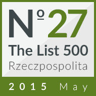 Cinkciarz.pl ranked 27th in the 'List 500' 2015