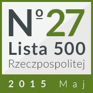 27 miejsce na 'Liście 500' 2015