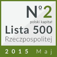 2 miejsce w kategorii 'prywatne firmy z polskim kapitałem' na 'Liście 500' 2015