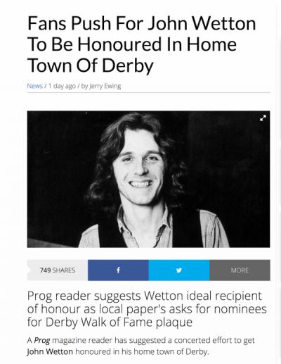 Honouring Wetton