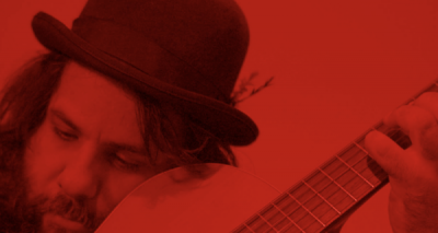 Crimson guitar
