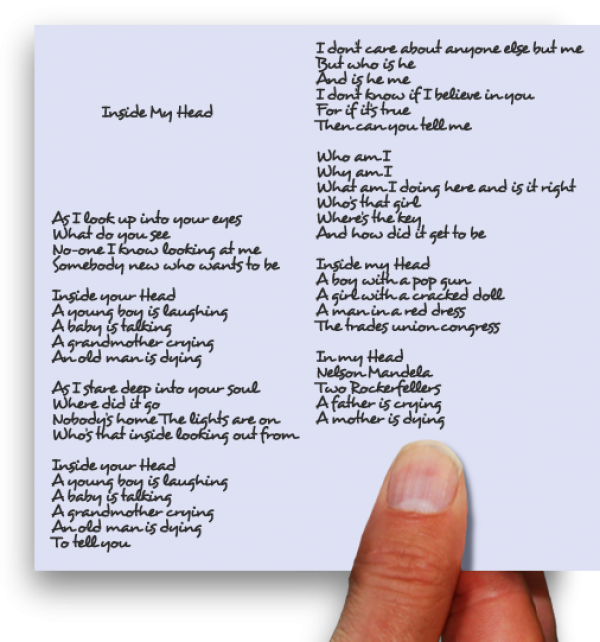 Inside my head lyrics