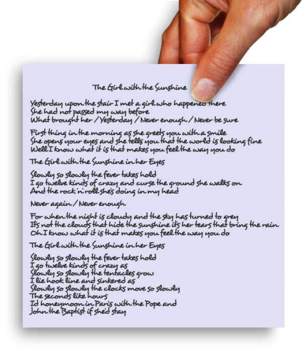 The Girl With The Sunshine Lyrics