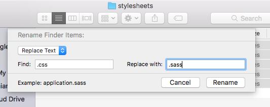 Basic batch file renaming using Finder