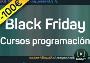 <b>¡BLACK FRIDAY !</b> Acceso a todos los cursos por 199€ (anual) Kubernetes, ReacJS, SOLID, VueJS, Arquitectura Hexagonal, AWS, CQRS,  Event Sourcing, Docker, Scala, Programación funcional, etc.