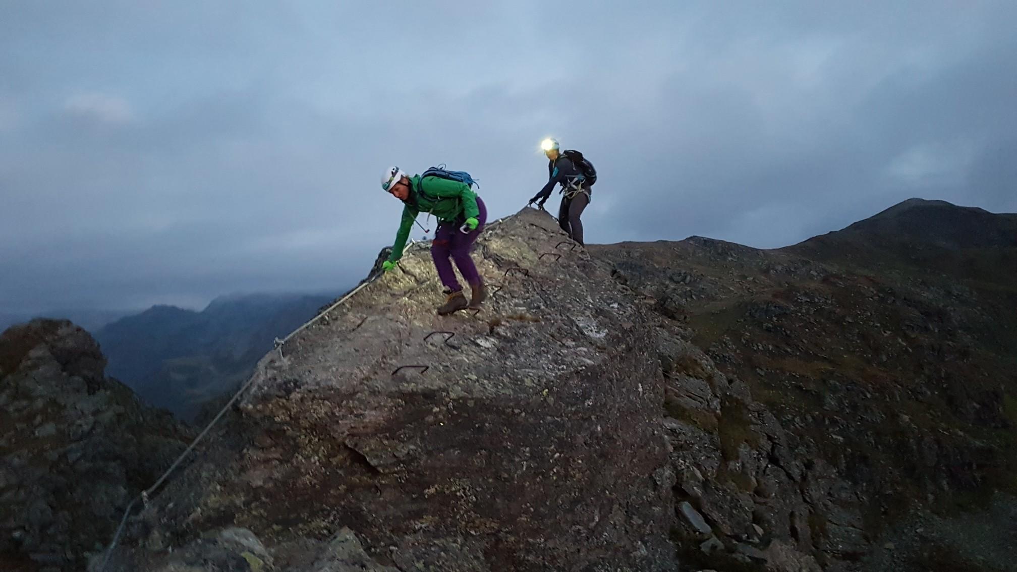 Klettersteig Madrisella : Madrisella burg klettersteig klettertour komoot