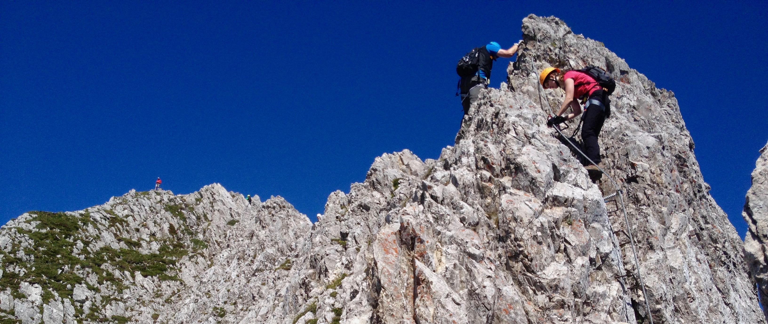 Klettersteig Johann Topo : Super klettersteige u vom morgengrauen bis zur dämmerung wander