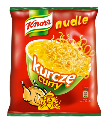 Nudle Rosioł curry Knorr
