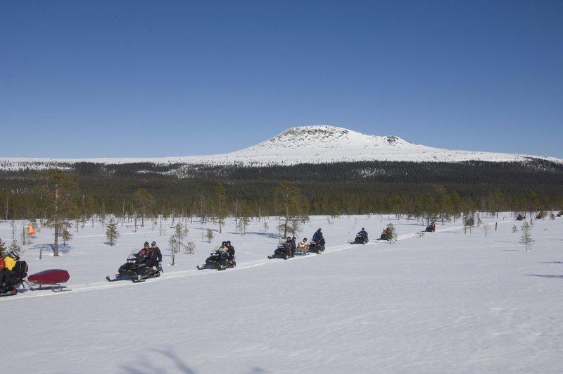 Snowmobile ride in Dalarna