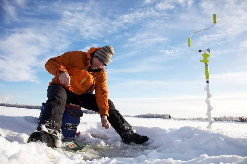 Ice-fishing in Dalarna