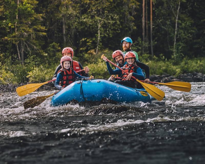 River rafting in Idre, Dalarna