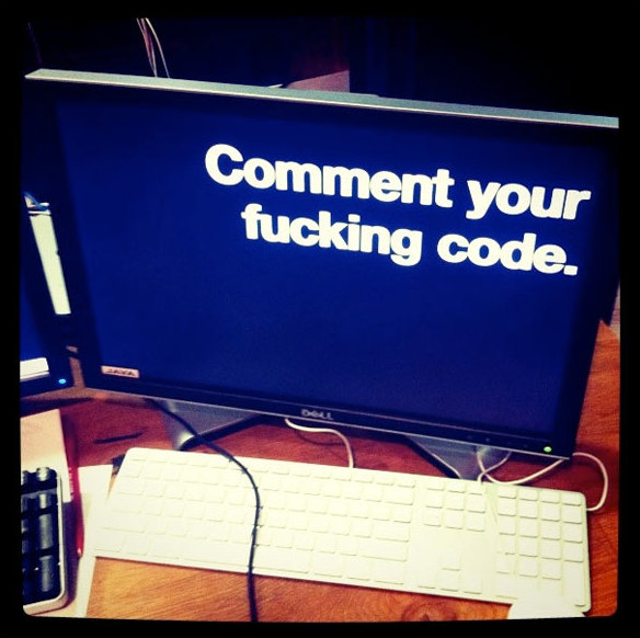 Comment your fuking code