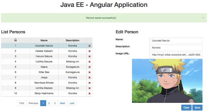 Building a Simple App Using Java EE 7 with AngularJS: Part Two – CRUD, REST, Validations