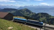 Mountain Swiss Train Transportation Railway