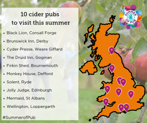 Map Of Uk Pubs.Camra Unveils 10 Cider Pubs To Quench Your Thirst This Summer