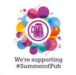 Summer of Pub Window Sticker 100s x 100mm High Res