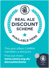 Real Ale Discount Scheme Pub Sticker