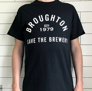 broughton brewery t-shirt