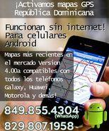 ¡Activamos mapas GPS Dominicana, funcionan sin internet!  para celulares Android.