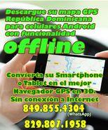 Descargue su mapa GPS Dominicana para celulares Android con funcionalidad offline