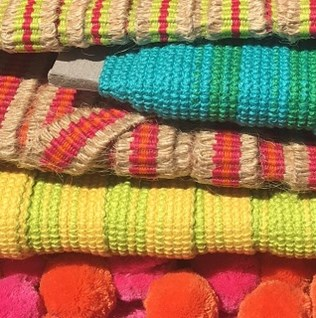 Beautiful interior knitted and woven braids and trims for adding fresh colour to your home