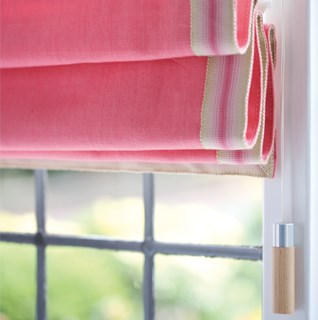 Gorgeous roman blind pulls in wood, aluminium, glass, pewter or leather to improve your blind