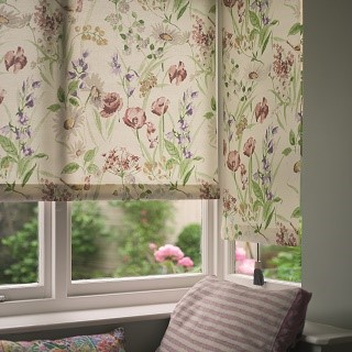 hedgerow traditional cottage blind print 1