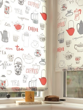 tea and coffee roller blind print 1