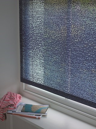 chicago roller blind fabric in window 1