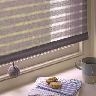 organic stripe roller blind textured design 1