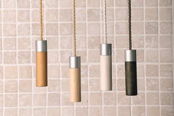 alvo light pulls in wood and aluminium