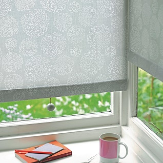 asha grey roller blind print by melanie