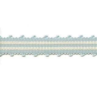 tenby beach hut blue woven upholstery trim