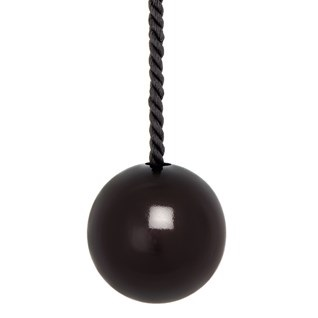 gloss black bobbi ball bathroom light pull