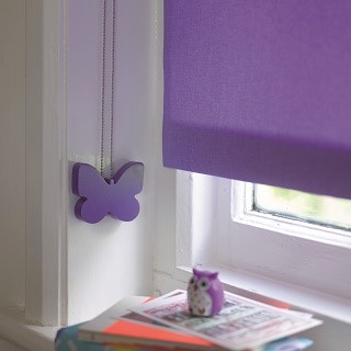 purple butterfly child safety blind cleat 1