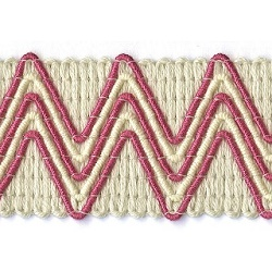 zigzag braid fuchsia
