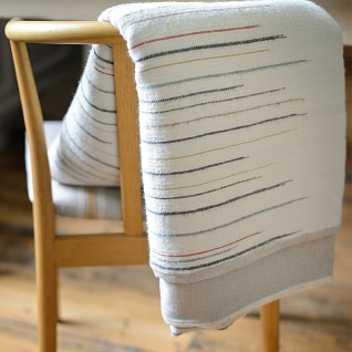 chalkney stripe woollen throw