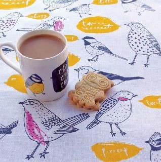 chirp bird mug and tea towel gift set