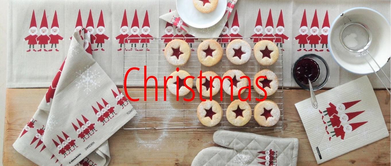 christmas elves baking tableware