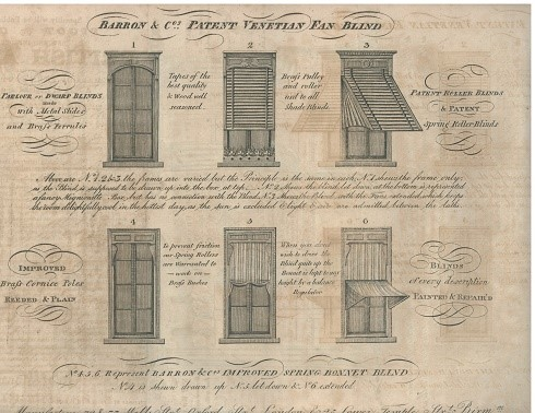 early advert for blinds by baron and sons 1