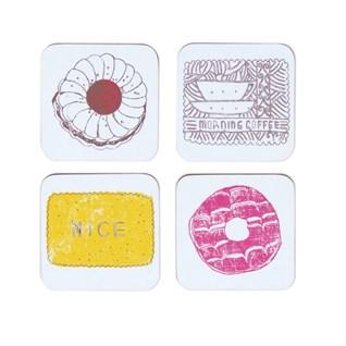family favorite buscuit design coasters