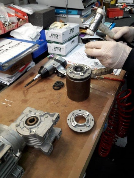 working on gearbox
