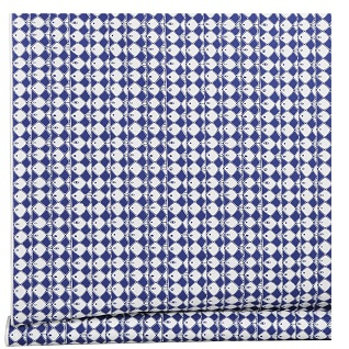 frisco vibrant blue scandi cotton print design