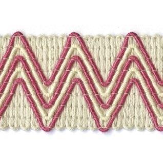 fuchsia zigzag modern interior haberdashery trim