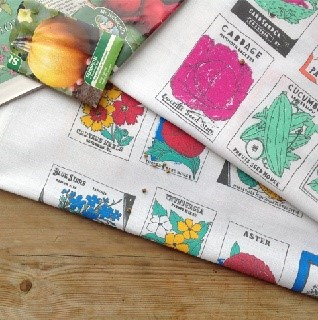 gardening seed packet tea towels