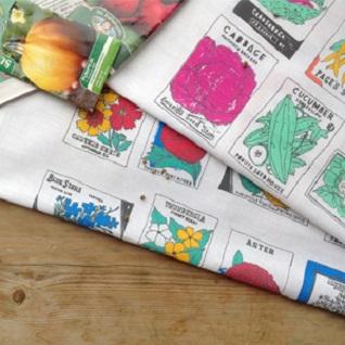 flower seed packet gardeners tea towel gift set