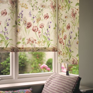 hedgerow printed roller blind fabric