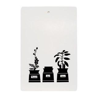 herb garden chopping board in black & white