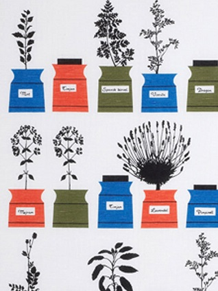 herb garden original colour cotton fabric